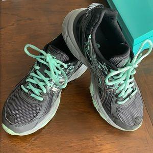ASICS Gel-Venture 6 Grey & Mint Running Shoes